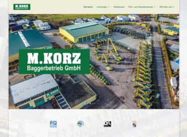 Baggerbetrieb Korz GmbH – Homepage