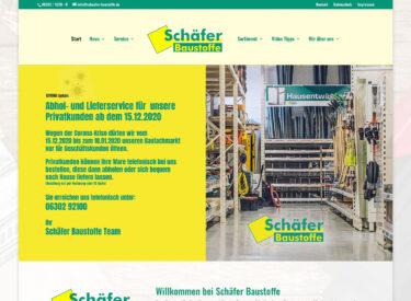 Schäfer Baustoffe – Homepage