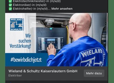 Wieland und Schultz KL – Online Stellenanzeige