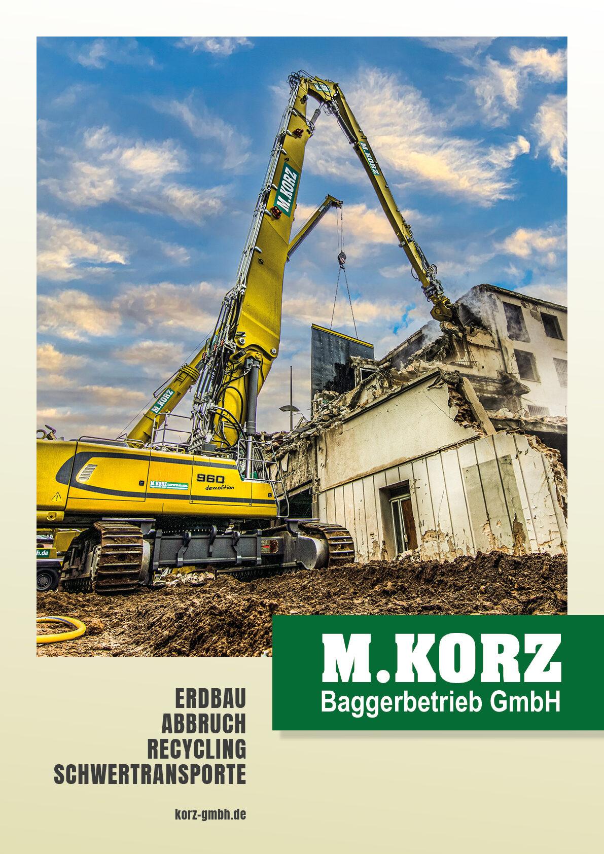 Imagebroschüre Baggerbetrieb Korz GmbH